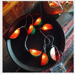 decorazioni di frutta fresca Sconti Lampada a LED anguria String Letteratura e Arte Piccola frutta fresca Camera per bambini Piccola lampada a sospensione Foto Lampada creativa Ins
