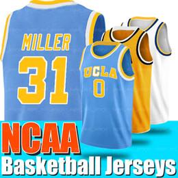 jersey de ucla Rebajas NCAA UCLA 0 camiseta russell westbrook 31 camisetas Reggie Miller University of California, camiseta de baloncesto de Los Angeles College