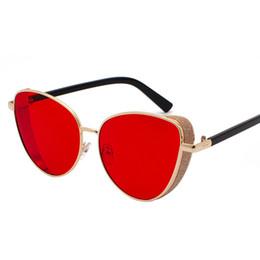 ACQ21 Cat Eye Frauen Shades Sonnenbrillen China Großhändler Markendesigner Metallrahmen Seitendeckel Abdeckung Kostenloser Versand Weltweit City Drop Ship von Fabrikanten