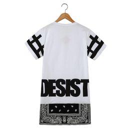 2019 camisas bohemias de los hombres Hombres y mujeres camisa larga Hot Unisex Hip Hop Tee Bandana camiseta CESE DESISTENCIA Cool Fashion Punk Tops Tee Bohemian Floral con cremallera camisas bohemias de los hombres baratos
