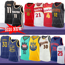 Dominique wilkins jersey on-line-Rose 25 Derrick NCAA novo 11 Trae Webb 4 Spud Wilkins 21 Dominique Hunter 12 De'Andre basquetebol Equipamentos