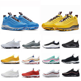 Héros sportifs en Ligne-nike Air Max 97 airmax 97 shoes 97S New Air Bright Citron Bleu Hero Hommes Femmes Running Athletic Chaussures South Beach Rouge Léopard Persian Violet Sports Sneaker