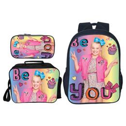 2019 bolsa de laptop de couro rosa 3 Pçs / set Pop Star Jojo Siwa Crianças Sacos De Escola Do Bebê para Meninas Adolescentes Mochila Diária Sacos de Ombro de Viagem Casuais Crianças Bookbag9