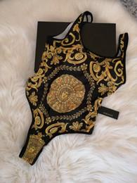 biquíni de bandeau floral azul Desconto 2019 VSC04 O Mais Novo Designer de Moda Swimwear Biquíni Para As Mulheres Carta Swimsuit Bandage Sexy Maiôs Sexy One-piece Swimsuits