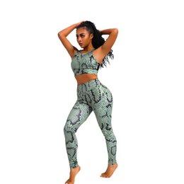 pantalones de yoga del ejército Rebajas Army Green S-XL Mujeres Yoga Set Yoga Sujetador Deportivo Pantalones Elásticos Leggings Running Fitness Suit # 4A11 # 918355