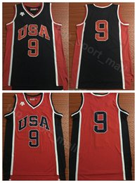 fans for sale Promo Codes - US 1984 Basketball Jerseys 9 Michael Uniform Team Navy Blue Red Color MJ Jersey Men Breathable For Sport Fans Top Quality On Sale