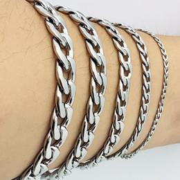 brazaletes de oro baratos 18k pulseras Rebajas Man Curb Pulsera de cadena de eslabones cubanos Pulseras de acero inoxidable para hombre para mujer Joyería de AMYA para hombres y mujeres