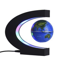 C таблицы онлайн-C-образный шар привел ночник настольная атмосфера ночник магнитная подвеска глобус подарочные украшения светодиодные ночные светильники украшение стола Best