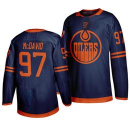 logotipo do leon Desconto Edmonton Oilers 50Th dos homens Terceiro Jersey 97 Camisa Connor McDavid 99 Wayne Gretzky 29 leon draisaitl Hockey Jerseys costurado logotipos personalizados