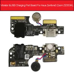 Caricabatterie asus zenfone online-Bordo porta di ricarica USB per vibratore audio per Asus Zenfone 3 Zoom ZE553KL Z01HD Caricabatterie Dock Plug Connettore Board Parti di riparazione