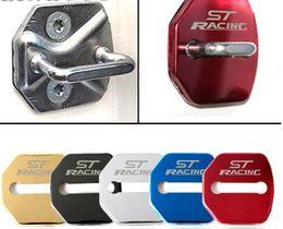 accesorios ford focus Rebajas Car Styling Funda de la cerradura de la puerta automática para Ford Focus 2 2005-2013 Fiesta Kuga Escape 4pcs Accesorios de hebilla de coche Car-Styling