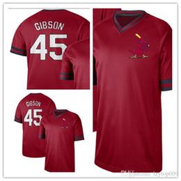 4a9f8f81d82 Discount cardinal cotton - custom 2019 Men s St. Louis Cardinals 45 Bob  Gibson Cooperstown Collection