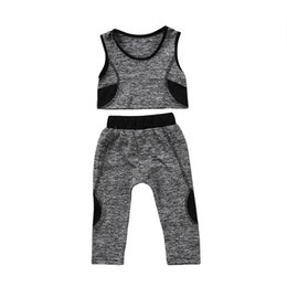 d5954f5523 2018 Brand New Toddler Infant Child Kid Baby Girl Yoga Vest Crop Top Pants  Leggings Running Sport Patchwork Outfits 2Pc Set 1-6T #286109 top yoga pants  ...