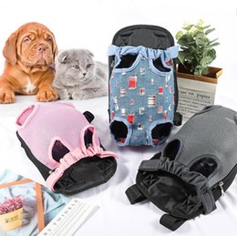 cane fornisce zaino Sconti Pet Dog Carriers Cat Puppy Borsa a tracolla frontale Five Holes Mesh Backpack Dog Outdoor Carrier Tote Pet Supplies 15 Disegni YW3966