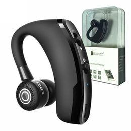 Kopfhörertreiber online-Drahtlose Bluetooth-Kopfhörer V9-Freisprecheinrichtung CSR 5.0 Noise Cancelling-Kopfhörer Business Headset Sprachsteuerung mit Mikrofon für Fahrer Sport Earbuds