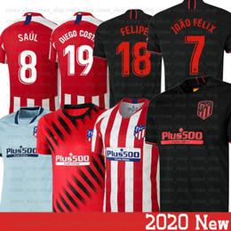 2019 valencia casa cf 2020 Atletico Madrid Jersey João Félix Saúl Morata Lemar Correa Felipe Camiseta de Futebol Trippier Felipe J. M. Giménez Homens crianças Futebol Je