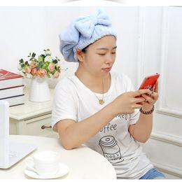 tecido de microfibra seca rápida Desconto Chefe útil Quick Dry microfibra Cabelo de secagem toalha de banho Enrole Hat natação # 3 / 10D