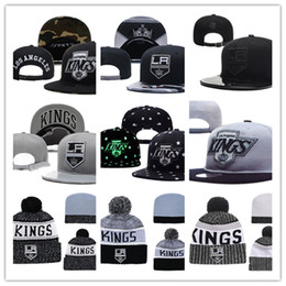 5c6497ce7a8f2 Los Angeles Kings Knit Hat white grey red black Los Angeles Kings Snapback  Caps Adjustable Cap one size fit most white king hat promotion