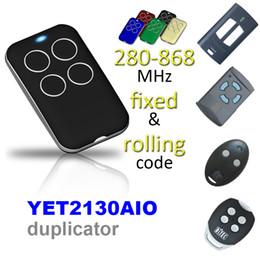 Горячая продажа дубликат 60 бренд прокатки код многофункциональный 280-868 МГц гараж двери пульт дистанционного управления от Поставщики выключатель двери автомобиля