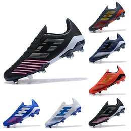 2019 tacos de fútbol azul rojo 2019 zapatos de fútbol Falcon de calidad superior Botas de fútbol FG Zapatillas de fútbol Zapatillas de deporte de diseñador Hombres Negro Rojo Blanco Azul Zapatos Tamaño 39-45 tacos de fútbol azul rojo baratos