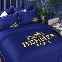 Biancheria da letto per la casa di moda Set 4 pezzi di cotone stampato Arcobaleno levigatura Twill Morbido Comodo Super King Family Sleeping supplies da
