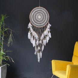 2019 carruseles de juguete Dreamcatcher indio Tapiz de red tejido a mano Tapiz de decoración de la pared del hogar / hotel múltiples estilos seleccione tejido de plumas de cuerda
