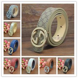 Vente chaude designer enfants PU ceintures en cuir enfants garçons filles marque lettre or argent boucle loisirs ceinture 80cm ? partir de fabricateur