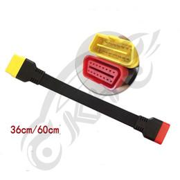 obd2 ford vcm ids Sconti per cavo di prolunga OBD II da lancio X431 V / V + / PRO / PRO3 / Easydiag 3.0 / Mdiag / Golo Connettore prolungato OBD2 principale da 16 pin maschio a femmina
