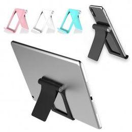 Складная подставка для смартфона онлайн-Мобильный телефон планшетный стол держатель роскошный стенд поддержка Pad мини смартфон ноутбук складной партии пользу AAA1670