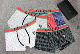 G diseño de letras online-A2019 venta caliente Hombres G Ropa Interior Boxers Algodón Transpirable Carta Calzoncillos Pantalones Cortos de Diseño de Marca de Lujo Cuecas Cintura Tight