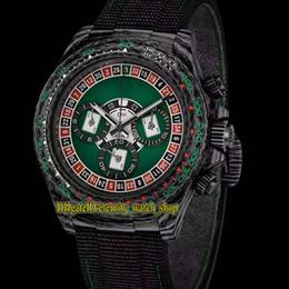 2019 relógios de pulso R versão modificada 116500LN 116500 caixa de fibra de carbono Spade Poker Dial 7750 Automatic 116520 Mens Relógios Sapphire Nylon Strap Sport Relógios desconto relógios de pulso