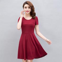vêtements new age femmes Promotion Produit le plus vendu en 2019 Femmes s'habillent Nouveaux vêtements d'été Grandes femmes d'âge moyen s'habillent de la mode de vêtements tendance 5XL 2296