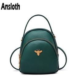 2019 mini-rucksack Ansloth Mini Rucksack Weibliche Berühmte Marke Umhängetasche Pu-leder Taschen Mode Frauen Rucksack Klassische Luxus Umhängetasche HPS89 rabatt mini-rucksack