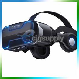VR Shinecon G02ED Auricolare Cuffie Stereo 3D Virtual Reality Vetro Smartphone Box VR per Android IOS Samsung iPhone Cellphone da