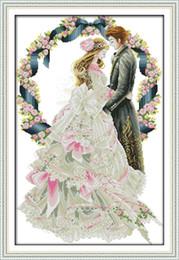 Royal wedding lovers room decor painting, ручной вышивки крестом вышивка рукоделие наборы подсчитано печати на холсте DMC 14CT / 11CT от Поставщики королевское полотно