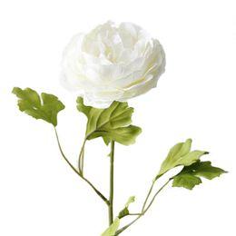 schneespray dekoration Rabatt Hohe Qualität Künstliche Pfingstrose Blumen Einzelnen Langen Stamm Bouquet Schöne Simulation Blume Party Hochzeit Dekoration Freies Verschiffen