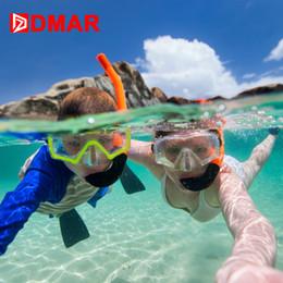2019 immersioni subacquee DMAR Separate Diving Anti-fog Pieghevole nuoto bambino adulto Snorkeling Mask Underwater Scuba Glasses Apparatus Training sconti immersioni subacquee