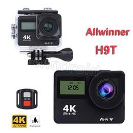 Canada H9T Allwinner 2 pouces Écran 4K Action Caméra Double Écran 2.4 Télécommande Wifi Casque Étanche Sports Cam Mini DV par DHL Moins Offre
