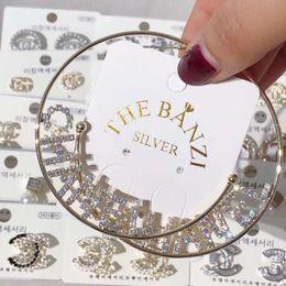2019 lustre cristal gotas por atacado Novo estilo temperamento marca grande círculo brincos moda atmosfera exagerada de high-end vestido de jantar acessórios