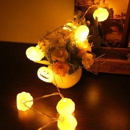 lampade di riso Sconti 1.2 Rice 10LED Halloween Pumpkin Lamp Decorare Prop Haunted House Bar Luminescence Strobe lampada T190921