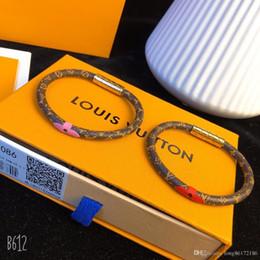 Homens jade pulseira on-line-Bracelete De Couro Pulseira De Designer Velho Design Da Flor 2019 Acessórios De Moda De Luxo Banhado A Ouro Brilhante Homens De Cobre E Mulheres Accessor
