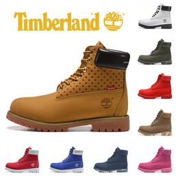 2019 tacchi bianchi Timberland Marca Stivali gialli designer di lusso Stivali da uomo Militari Donna Tripla Nero Bianco Camo in pelle alla moda sneaker sportiva 36-45