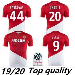 2019 2020 AS Monaco Futbol Formaları FABREGAS 19 20 Monaco Maillot de Ayak FALCAO Forması TIELEMAN GOLOVIN GELSON.M Futbol forması supplier fabregas shirt nereden fabregas gömlek tedarikçiler