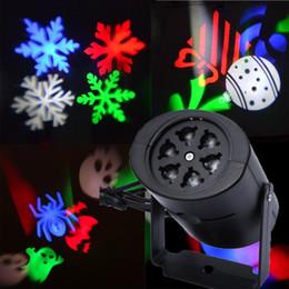 Luci laser da giardino online-IN VENDITA Proiettore Laser DJ LED Stage Light Cuore Snow Spider Bowknot Bat Paesaggio Luci da party Lampada da giardino Illuminazione da esterno