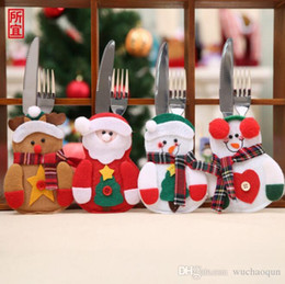 1//5//10//30pcs Christmas Silverware Holder Mini Xmas Tree Santa Claus XMAS Hat Lot