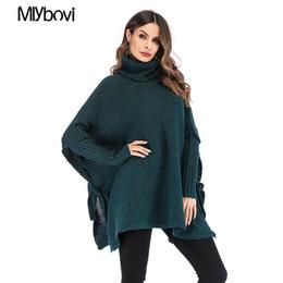 Розовый свитер онлайн-Casual Sweater Long Sleeve Loose Knitted Sweater Office Lady Green/ Pollover Solid Jumper 2019 Spring Elegant