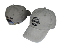 9ebb6632168 Rihanna Hat Bitch I know you know letter Dad Hat Anti Tour Baseball Cap Hip  Hop Women Men Adjustable Strapback Trucker Hat Bob