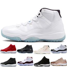 Zapatos cerrados para hombres online-Barato Concord 45 11s Hombres Zapatillas de baloncesto 11 Tinte de platino GORRA Y ABRIGADA LEYENDA LEYENDA AZUL CIERRE CEREMONIA HEIRESS hombres mujeres