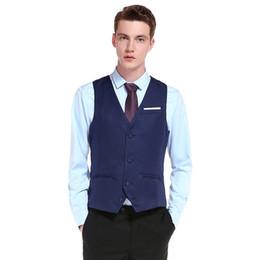 Trajes de hombre negro china online-2019 personalizar productos de alta calidad algodón hombres diseño de moda traje chaleco / gris negro de gama alta hombres negocios casual traje chalecos para novio