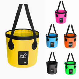 wholesale black art canvas Coupons - 20L Portable Folding Bucket Fish Water Storage Tools Camping Fishing Accessories Tackle Beach Bucket Storage Outdoor Portable Canvas M238Y